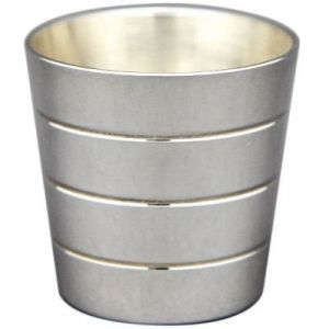 Coquetier Biarritz personnalisable (métal argenté) Aubry Cadoret