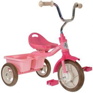 Tricycle Transporter avec panier arrière rose Italtrike