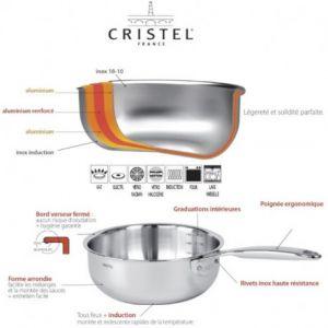 Casserole inox Castel'Pro, Cristel