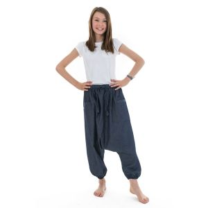 Fantazia - Pantalon sarouel enfant - Sarouel bermuda ado jean leger urban babacool mixte