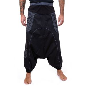 Fantazia - Sarouel homme léger - Pantalon sarouel baggy droit mixte noir gris