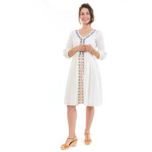 Fantazia - Robe grande taille - Robe midi ethnique romantique broderies