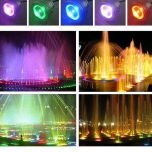 Télécommande 10w 12v résistant à l'eau RGB LED lampe sous-marine pour l'éclairage de bassin de fontaine de paysage A50041