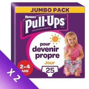 [LOT DE 2] HUGGIES Culottes d'apprentissage pour fille Pull Ups - M/L - Jour