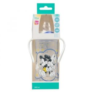 TIGEX Biberon MICKEY  Tétine silicone  300 ml  6 mois -DISNEY Baby (Lot de 3)
