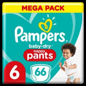 Pampers Baby-Dry Pants Couches-Culottes Taille 6, 66 Culottes