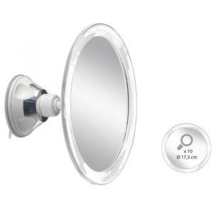Miroir grossissant x10 AUTONOMIE ET BIEN êTRE TMI 6878 - Fixation à ventouse - 18 x 9 x 20cm - Taupe