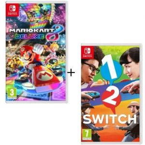 Pack 2 jeux Switch : Mario Kart 8 Deluxe + 1-2-Switch
