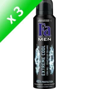 FA Déodorant Extreme Cool - Aérosol - Pour homme - 150ml (Lot de 3)