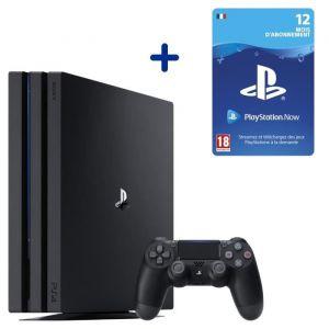 Console PS4 Pro 1To Noire/Jet Black + Abonnement 12 Mois au PlayStation Now - Code de Téléchargement pour PS4