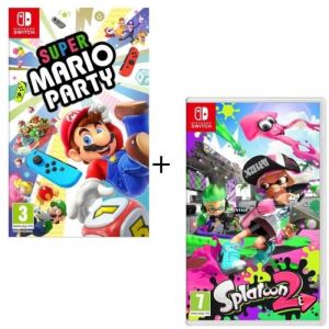 Pack  2 jeux Switch : Super Mario Party + Splatoon 2