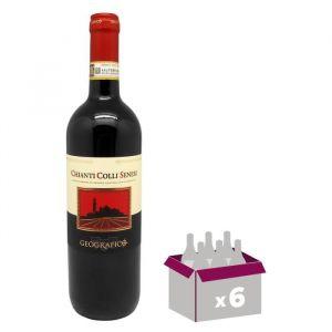 Geografico Chianti Colli Senesi - Vin rouge d'Italie - DOCG Chianti Colli Senesi - 75 cl