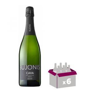 BUJONIS Cava brut Vin d'Espagne - Blanc75 cl x 6 - Vin d'Espagne  Bujonis Cava brut x 6