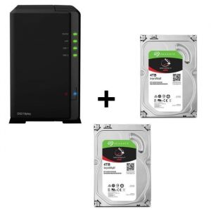 Pack SYNOLOGY DiskStation DS218play + 2 disques durs Iron Wolf 4To