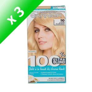 GARNIER Coloration 100% Ultra blond 10.1 blond clair (Lot de 3)