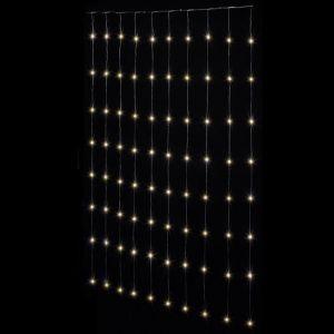 FEERIC LIGHTS & CHRISTMAS Rideau façade Copper - 400 LED - Blanc - 2m