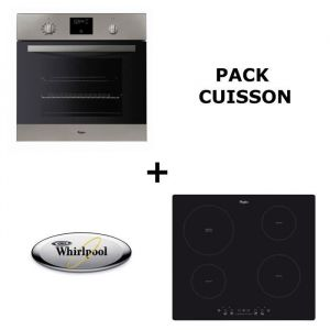 WHIRLPOOL Pack cuisson : Four pyrolyse + Table induction ACM508NE Pack encastrable