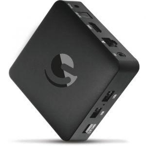 EMATIC SRT202 Box Android TV  UHD 4K - Netflix - You Tube - Google - Lecteur multimedia Smart TV (Wifi, LAN, Bluetooth, IPTV, Quad C