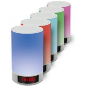 APM Enceinte sans fil - Lampe d'ambiance tactile - puissance 5 W - Batterie 4000 mAh - Ecran LCD avec affichage de l'heure