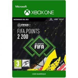 FIFA 20 ULTIMATE TEAM : Monnaie virtuelle à télécharger - 2200 Points. Xbox One