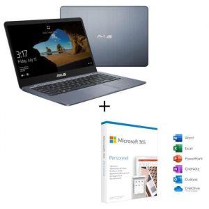 ASUS PC Ultrabook E406MA-EK065T-14' Full HD-Pentium N5000-RAM 4Go-Stockage 128Go-Windows 10 + Microsoft 365 Personnel
