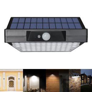 Applique Solaire LED Extérieure Lampe de sécurité sans fil à 78 LED Lampe murale à détecteur de mouvement Lampe de jardin