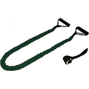 TUNTURI Set élastiques de musculation gainés tubing moyen, vert