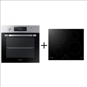 SAMSUNG NV64R3571BS - Four TWIN CONVECTION™ - Pyrolyse - A - 64L + NZ64M3NM1BB/UR - Table de cuisson induction - 4 zones