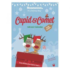 ROSEWOOD Calendrier de l'Avent à la caroube Cupid&Comet - Pour chien - Calendrier de l'Avent à la caroube - Une alternative au chocolat inoffensive - Pour chien.
