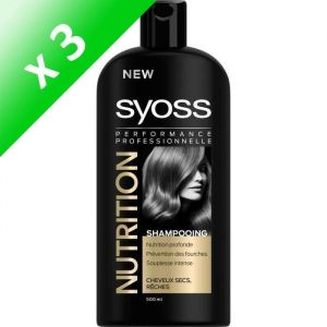 SYOSS Shampoing Nutrition - 500 ml (Lot de 3)