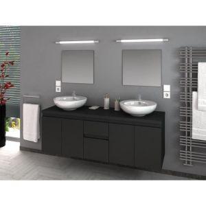 Meuble salle de bain 150 cm gris - Comparer 59 offres