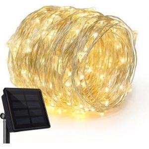 guirlande lumineuse solaire 20m Extérieur, Jardin, Terrasse, Mariage et Fête de Noël
