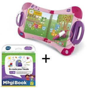 VTECH - MagiBook Starter Pack Rose & En route pour l'école
