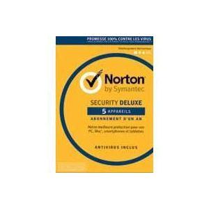 Norton Security 2017 Deluxe - 5 Postes - 1 an