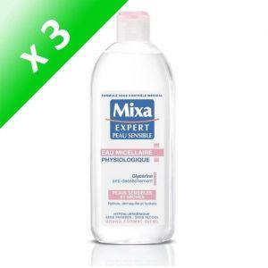 MIXA Expert Peau Sensible - Eau Micellaire Physiologique Anti-déssèchement - 400 ml (Lot de 3)
