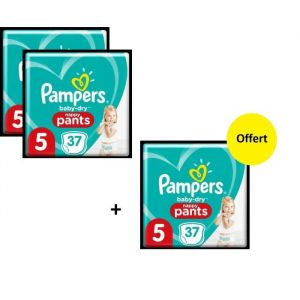 Pampers Baby Dry Pants Geant T5 X111 - Lot de 3