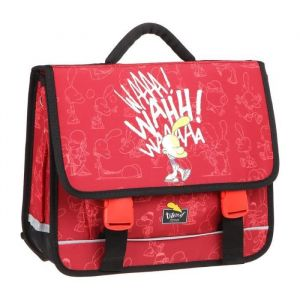 TITEUF Cartable - 2 Compartiments - 38 cm - Rouge - Primaire - Enfant Garçon - Polyester 600D - Fermeture tucks - Rouge - 2 compartiments - Dimensions : 38x33x13 cm