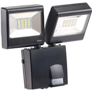 Double projecteur à LED avec détecteur de mouvement PIR - 230 V