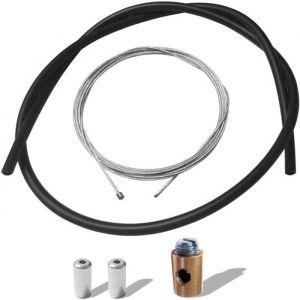 KIT CABLE GAINE D'ACCELERATEUR GAZ SERRE CABLE CYCLOMOTEUR MOBYLETTE CARBURATEUR STANDARD DELLORTO 3x3MM Ø1.2MM 2.5M