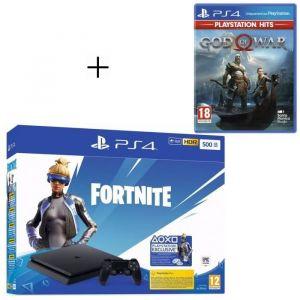 Pack PlayStation : PS4 Slim 500 Go Noire + God of War PlayStation Hits