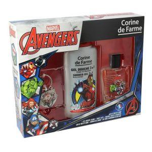 CORINE DE FARME Coffret Avengers eau de toilette 50 ml + gel douche 2en1 250 ml + 1 porte-clés + 1 marque-pages