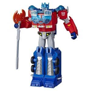 Transformers Bumblebee Cyberverse Adventures - Robot action Ultimate Automatique Optimus Prime - Jouet Transformable 2 en 1