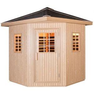 SNÖ Sauna infrarouge extérieur panneaux carbone - 3-4 places - 4310W