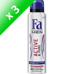 FA Déodorant Active & Pure - Homme - 150ml (Lot de 3)