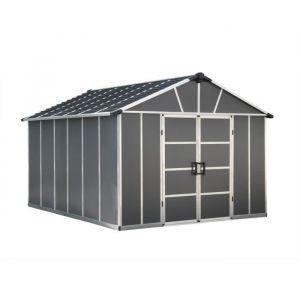 PALRAM Abri de jardin Yukon 11,7 m² - Aluminium et polycarbonate - Gris