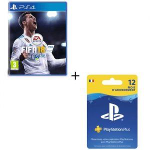 FIFA 18 + Abonnement PlayStation Plus 12 mois