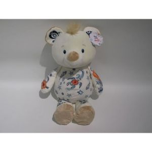 NICOTOY Peluche Tattoo ours - 60 cm - Beige crème