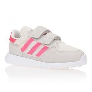 ADIDAS Baskets Forest Grove - Bébé fille - Blanc et rose