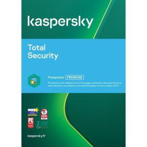 Kaspersky Total Security 2020 - 2 Postes - 1 An - -Version Dématérialisée-