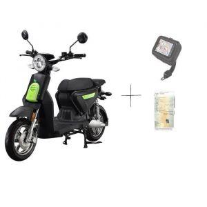 EUROCKA Scooter eurocka c1 noir électrique  60v26ah 1500w batterie lithium amovible